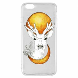 Чехол для iPhone 6 Plus/6S Plus Deer and moon