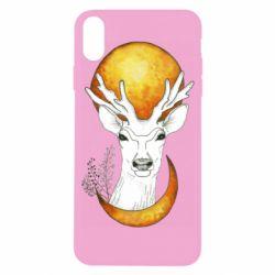 Чехол для iPhone X/Xs Deer and moon