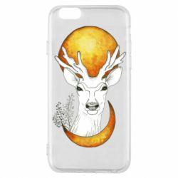 Чехол для iPhone 6/6S Deer and moon