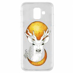 Чехол для Samsung A6 2018 Deer and moon