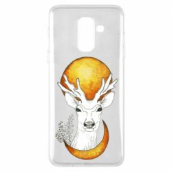 Чехол для Samsung A6+ 2018 Deer and moon