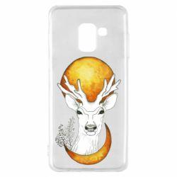Чехол для Samsung A8 2018 Deer and moon
