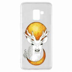 Чехол для Samsung A8+ 2018 Deer and moon