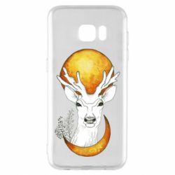 Чехол для Samsung S7 EDGE Deer and moon