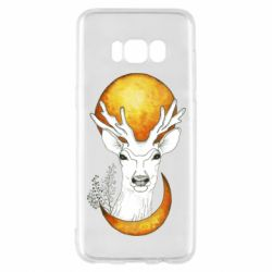 Чехол для Samsung S8 Deer and moon