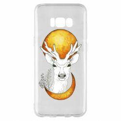 Чехол для Samsung S8+ Deer and moon