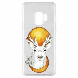Чехол для Samsung S9 Deer and moon