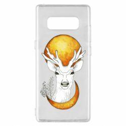 Чехол для Samsung Note 8 Deer and moon
