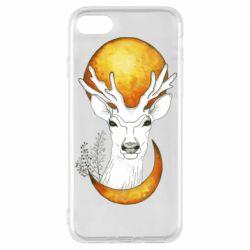 Чехол для iPhone 8 Deer and moon