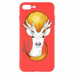 Чехол для iPhone 8 Plus Deer and moon