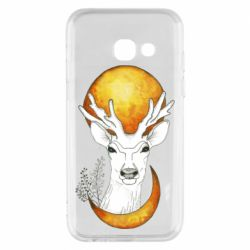 Чехол для Samsung A3 2017 Deer and moon