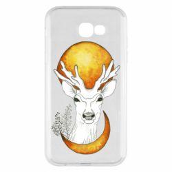 Чехол для Samsung A7 2017 Deer and moon