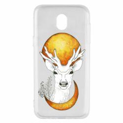Чехол для Samsung J5 2017 Deer and moon