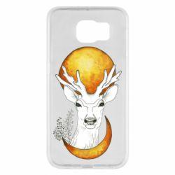 Чехол для Samsung S6 Deer and moon