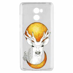 Чехол для Xiaomi Redmi 4 Deer and moon