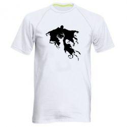 Мужская спортивная футболка Deer and dementor