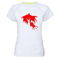 Женская спортивная футболка Deer and dementor