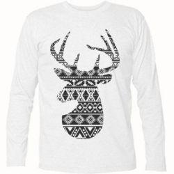 Футболка з довгим рукавом Deer from the patterns