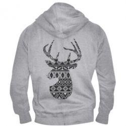 Чоловіча толстовка на блискавці Deer from the patterns
