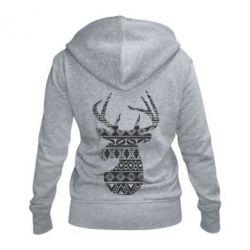 Жіноча толстовка на блискавці Deer from the patterns