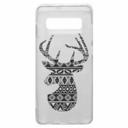 Чохол для Samsung S10+ Deer from the patterns