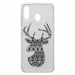Чохол для Samsung A20 Deer from the patterns