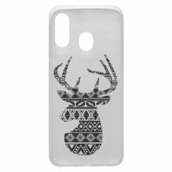 Чохол для Samsung A40 Deer from the patterns