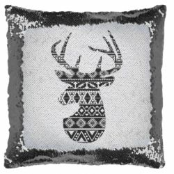 Подушка-хамелеон Deer from the patterns