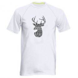 Чоловіча спортивна футболка Deer from the patterns
