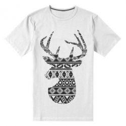 Чоловіча стрейчева футболка Deer from the patterns