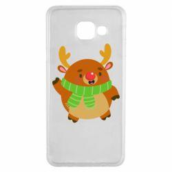 Чехол для Samsung A3 2016 Deer in a scarf