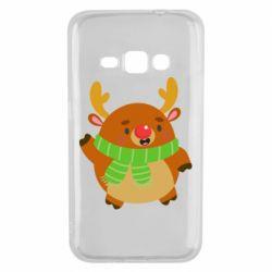 Чехол для Samsung J1 2016 Deer in a scarf