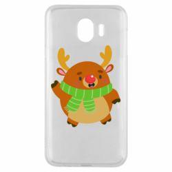 Чехол для Samsung J4 Deer in a scarf