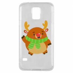 Чехол для Samsung S5 Deer in a scarf