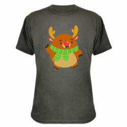 Камуфляжная футболка Deer in a scarf