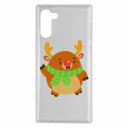 Чехол для Samsung Note 10 Deer in a scarf