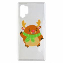 Чехол для Samsung Note 10 Plus Deer in a scarf