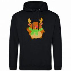 Мужская толстовка Deer in a scarf