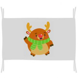 Флаг Deer in a scarf