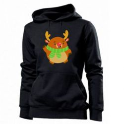 Женская толстовка Deer in a scarf