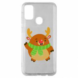 Чехол для Samsung M30s Deer in a scarf