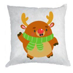 Подушка Deer in a scarf