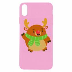 Чехол для iPhone X/Xs Deer in a scarf
