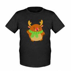 Детская футболка Deer in a scarf