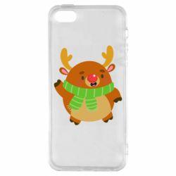 Чехол для iPhone5/5S/SE Deer in a scarf