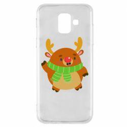 Чехол для Samsung A6 2018 Deer in a scarf