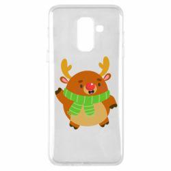 Чехол для Samsung A6+ 2018 Deer in a scarf