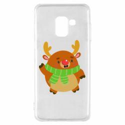 Чехол для Samsung A8 2018 Deer in a scarf