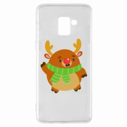 Чехол для Samsung A8+ 2018 Deer in a scarf