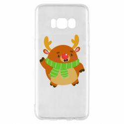 Чехол для Samsung S8 Deer in a scarf